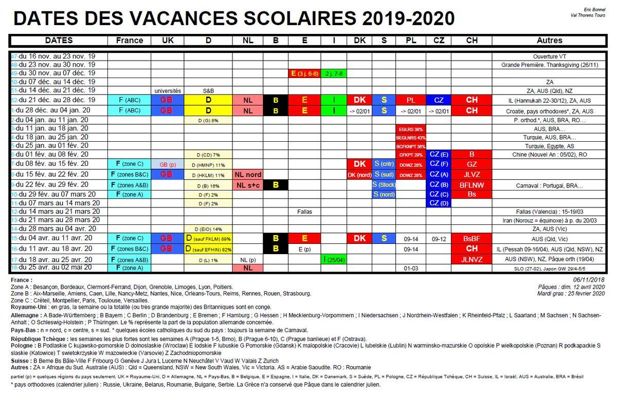 Calendrier 2020 Et 2020 Avec Vacances Scolaires.Le Calendrier Des Vacances Scolaires Europeennes 2019 2020 Esi