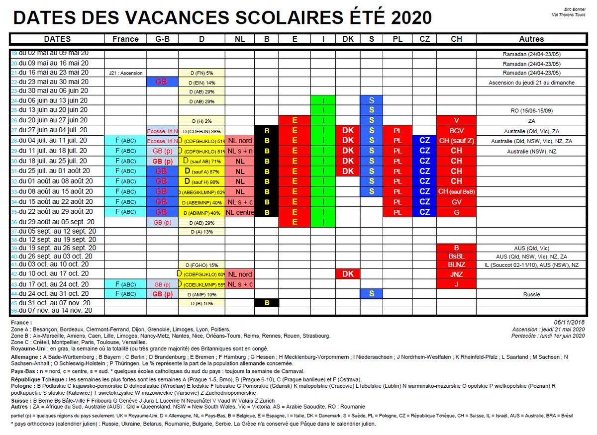 Calendrier Des Vacances Scolaires 2020 2019.Eric Bonnel On Twitter Vacances Scolaires 2019 20 Et Ete