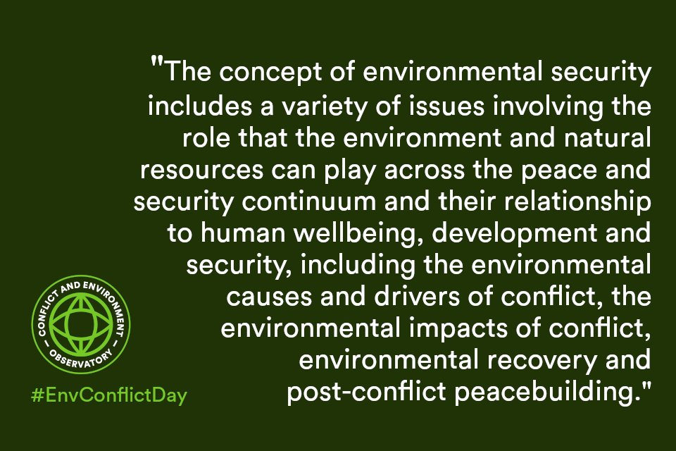 Conflict and Environment Observatory a Twitter: