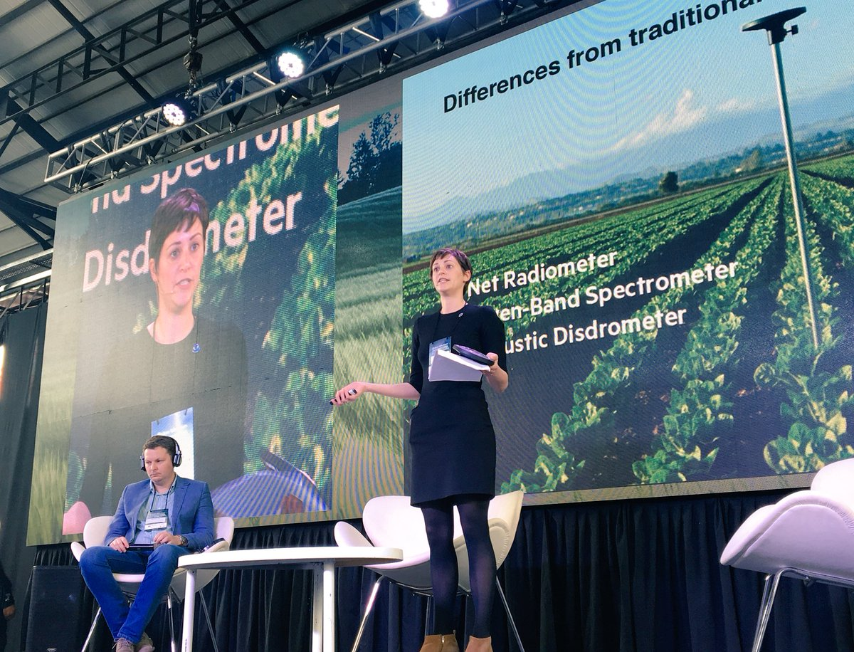 """""""We are seeing an increase of informed consumers. People want to know more about food. And I believe #DigitalAg is an opportunity for producers to tell their story.""""- Arable's VP of Strategic Partnerships Jessica Bollinger in Argentina at #SiliconValleyARG @ArgValley"""