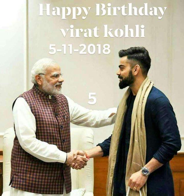 Happy birthday to my dear dynamic captain VIRAT KOHLI!