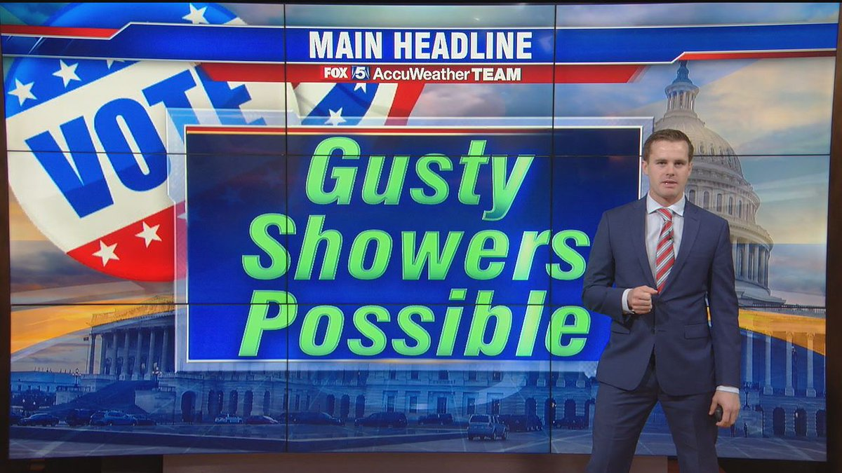 """FOX 5 DC on Twitter: """"GUSTY ELECTION DAY SHOWERS: If you're planning your  trip to the polls Tuesday, the heaviest time for showers in our region will  be ..."""