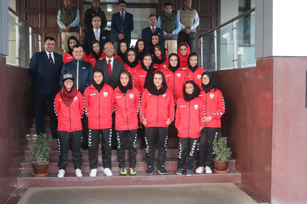 Afghan U-17 Boys team will start its #SubrotoCup campaign this week.The Afghan U-14 Boys and U-17 Girls teams also participated in the tournament.The U-14 Boys team lost a thrilling encounter in the Quarterfinals on penalties 11-12. @IAF_MCC @SubrotoCup @vkumar1969 #football