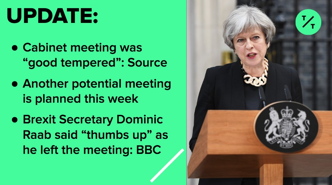 Tictoc By Bloomberg On Twitter May Held A Cabinet Meeting Today To
