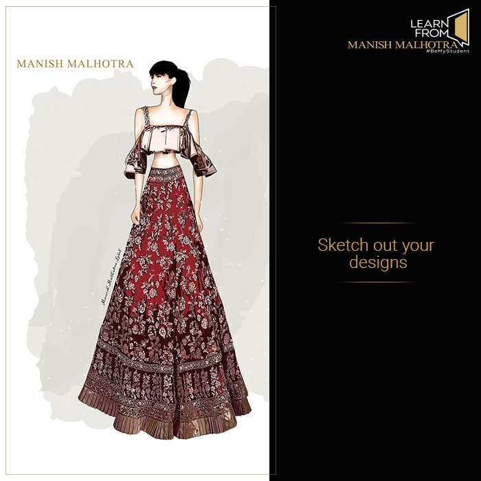 Learn From Manish Malhotra On Twitter Keep On Sketching While You Attend The Classoffashion The Learnfrommanishmalhotra Online Course Has Launched Are You A Part Of It Yet Https T Co Orz49qol58 Https T Co V24jjafqmt