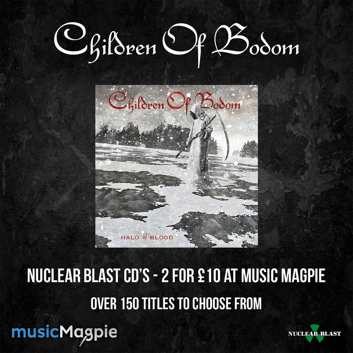 Pick up #HaloOfBlood in the Nuclear Blast x @musicMagpie 2 for £10 sale: https://t.co/EP56PQDhCu https://t.co/kXWuoiLnru