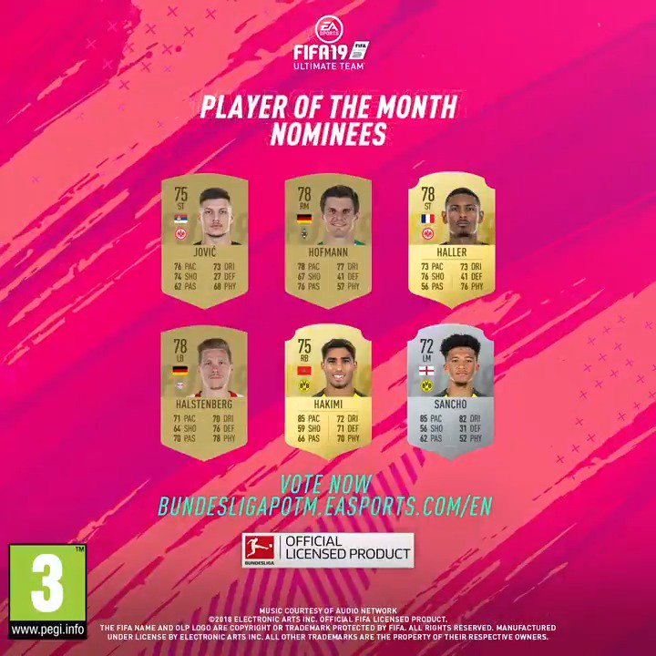 It's time. Vote now for your October #BundesligaPOTM! bundesligapotm.easports.com @Bundesliga_EN #FUT #FIFA19