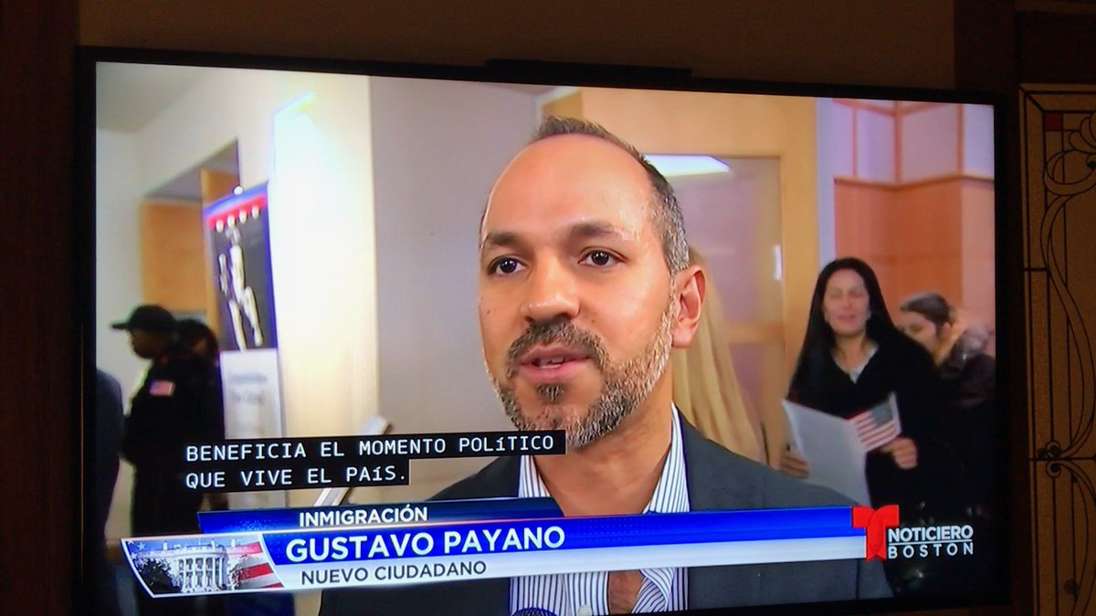 I'm a Hispanic #immigrant & became a citizen last year. When Telemundo interviewed me about why U.S. citizenship was important, I talked about being able 2 get more involved in the political system. Today, I'm a #firstvoter: a step fwd to tackle xenophobia & racism. #VoteTuesday