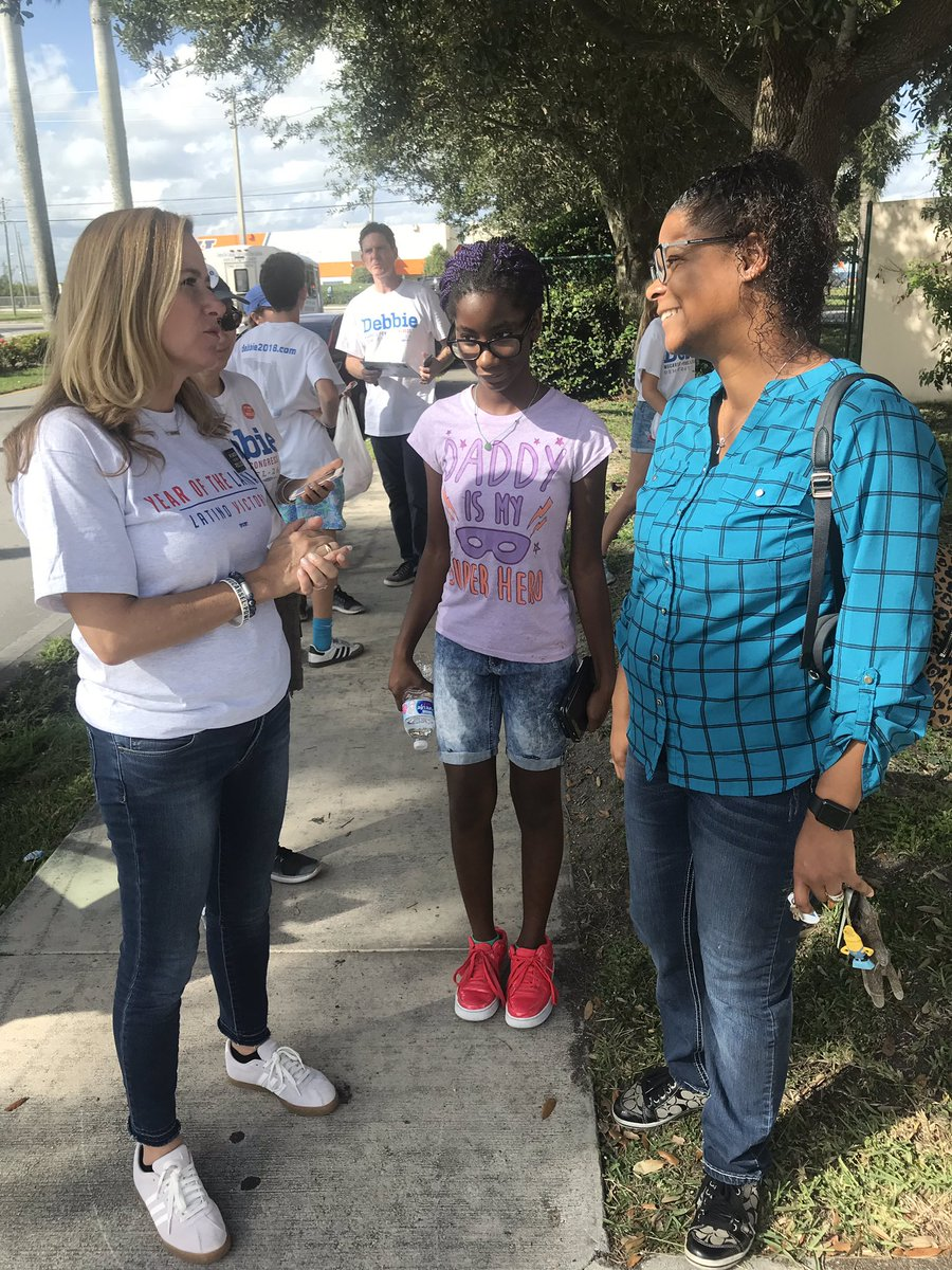 Talking to voters out in Homestead - they are ready for change! #FL26