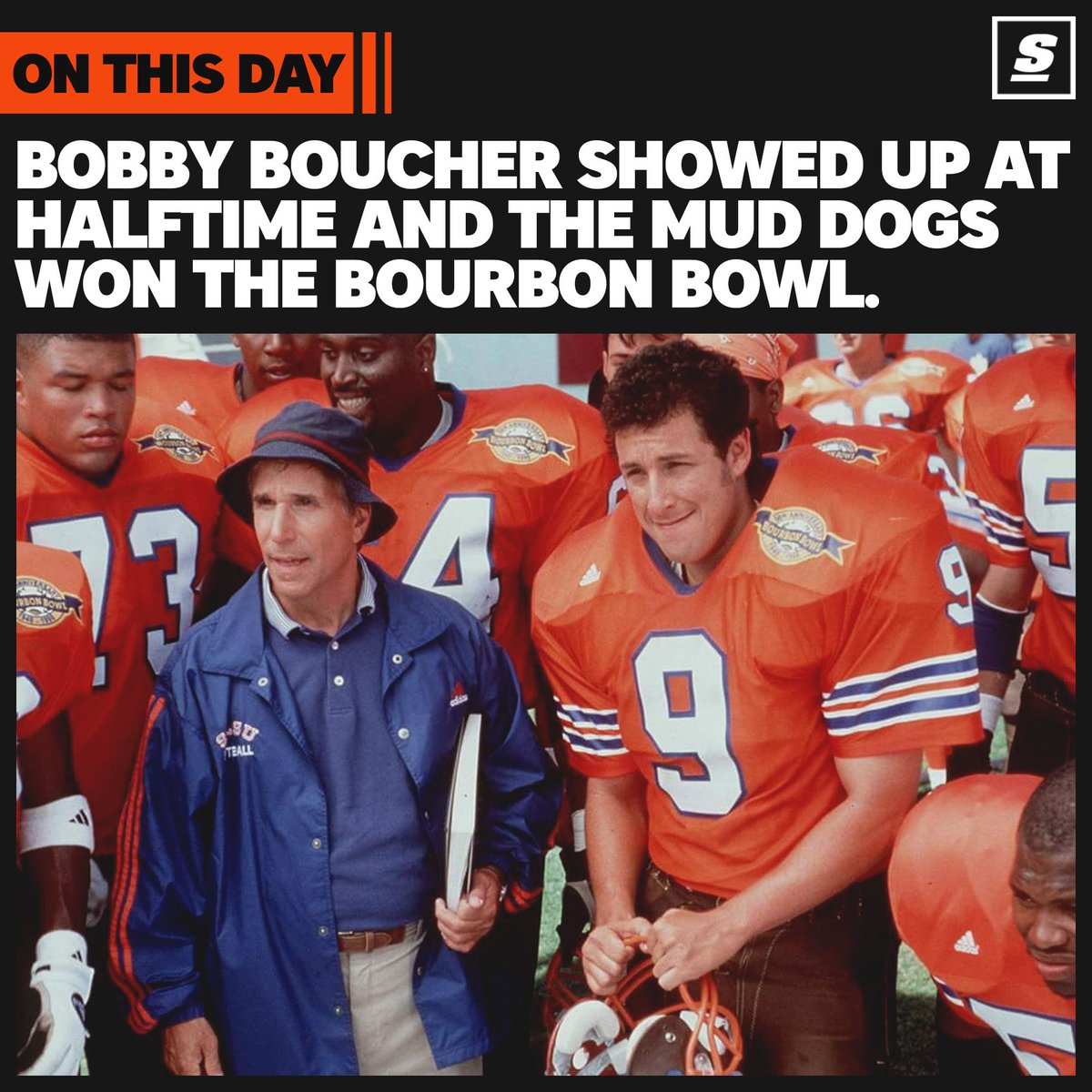 Bobby Boucher showed up at halftime and the Mud 529054276
