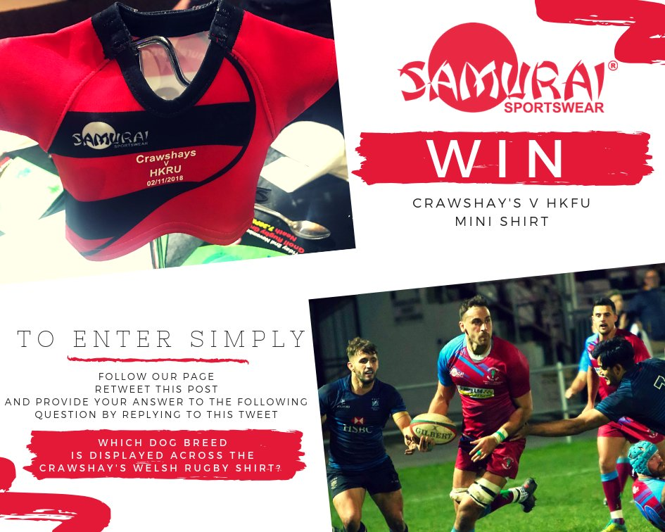 test Twitter Media - 🌟 COMPETITION TIME🌟  We are giving away a Limited Edition Mini Shirt from the @CrawshaysRugby Vs  @HongKongRugby match last Friday! To enter simply follow the instructions in the image below! The winner will be announced this Friday at 3pm, November 9th. Good luck everybody! https://t.co/EvxJi82a0J