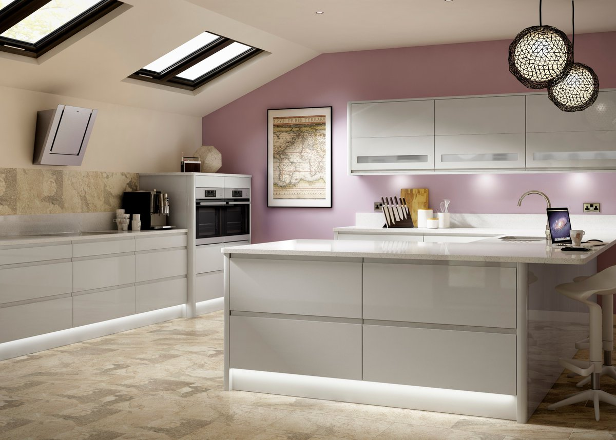 Benchmarx Kitchens Joinery On Twitter Entertain In Style With Our Stunningly Chic Holborn Gloss Light Grey Kitchen Cool Tones Of Gloss Grey Is The Latest Trend In Kitchen Design And Our