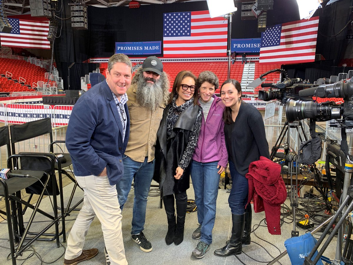 In Missouri yesterday with the @FoxNews team watching stage prep for the TRUMP RALLY. #hannity