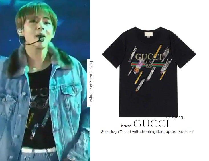 9e223d2fd3d GUCCI - Gucci logo T-shirt with shooting stars
