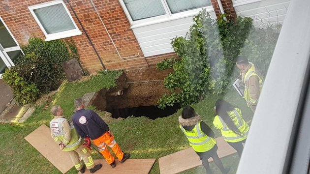 Residents said they expected to be out for at least two weeks while  st albans sink hole