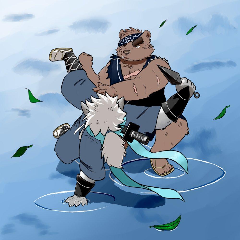 Mango Wolf On Twitter Oroshi Vs Gouki Fan Art Of The Spicy Ninja Scrolls