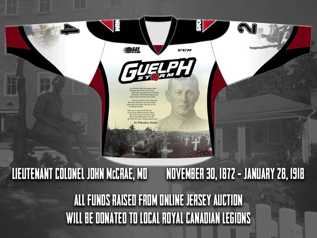 John McCrae with a Remembrance Day-themed sweater ... 6b99ee804