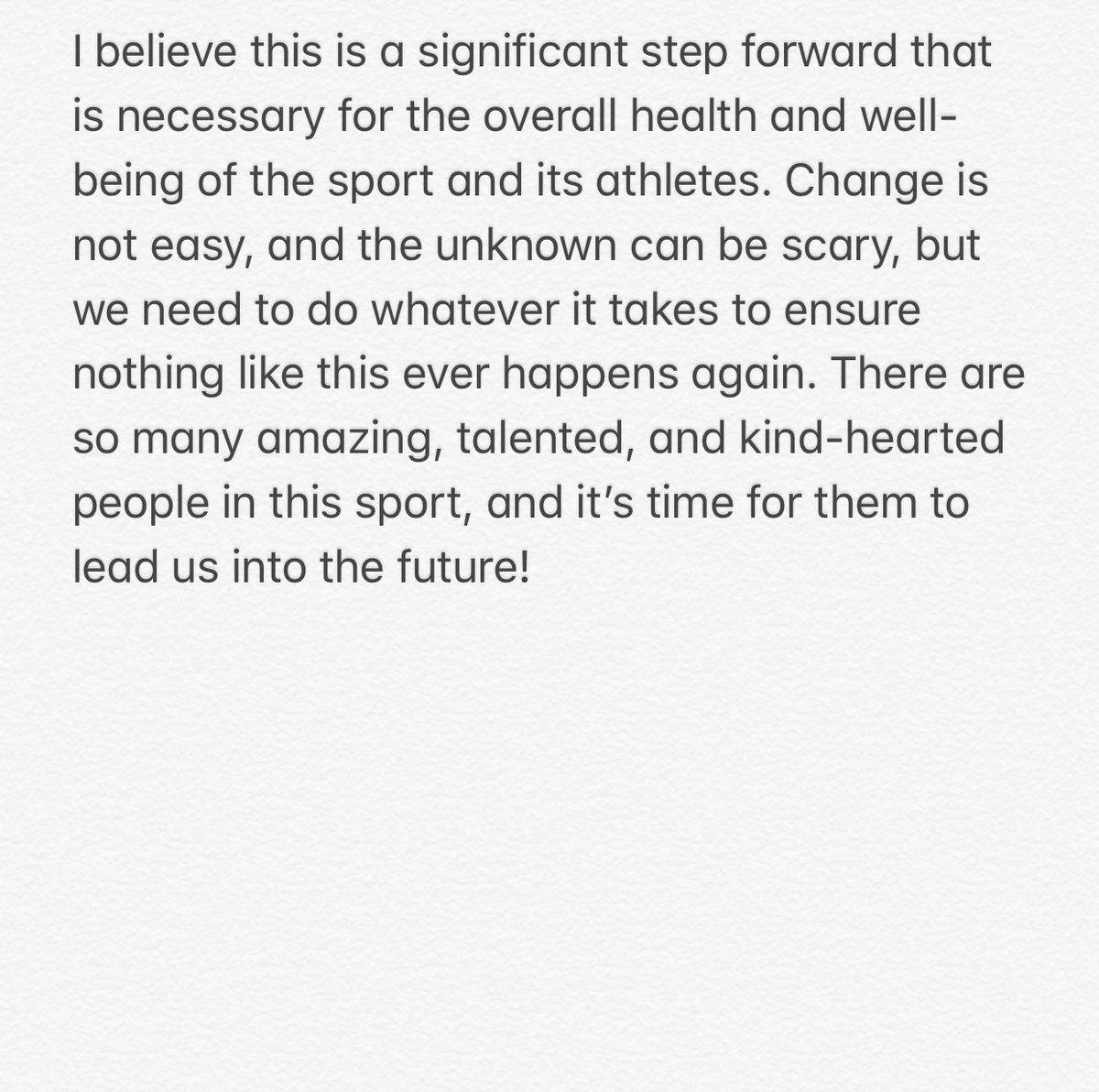 To the gymnastics community 💗