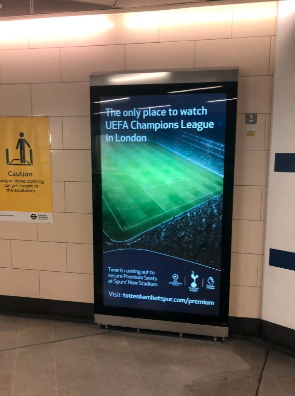 With Spurs welcoming PSV in the Champions League tonight it gives us another perfect opportunity to take the piss out of THAT ad...