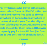 Fongo is perfect for traveling! #TravelTuesday #TestimonialTuesday