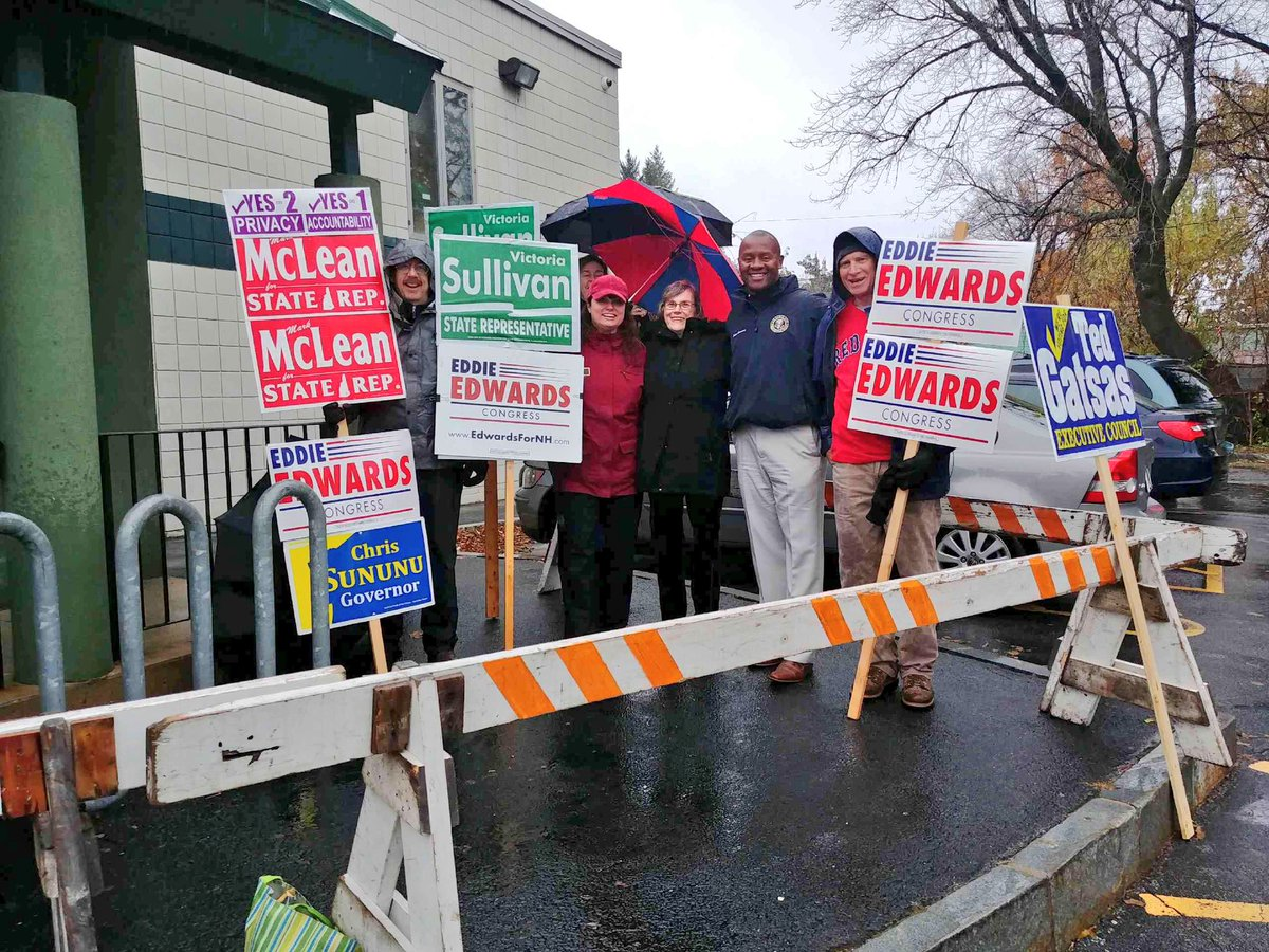 A big thank you to @VSullivan4NH for all of her help during this race for Congress. Meeting more voters at #MHT Ward 9 this afternoon. #nhpolitics #nh01