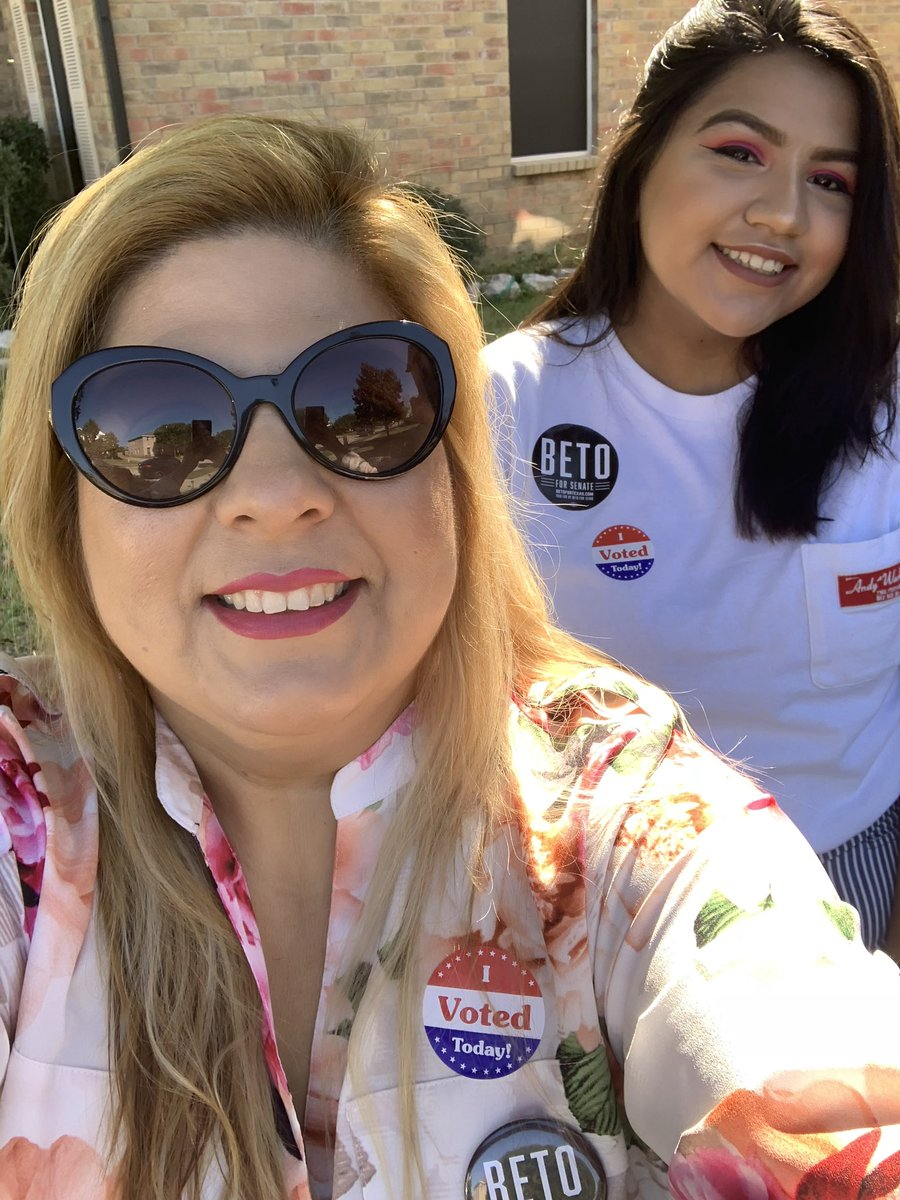@BetoORourke my mom & I are first time voters! 🇺🇸 #BetoForTexas #ElectionDay #IVoted #GoVote