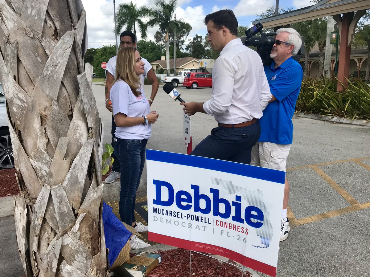 I'm out here telling NBC6 how important this race is. Please come out today and vote if you haven't already 🙌 #FL26