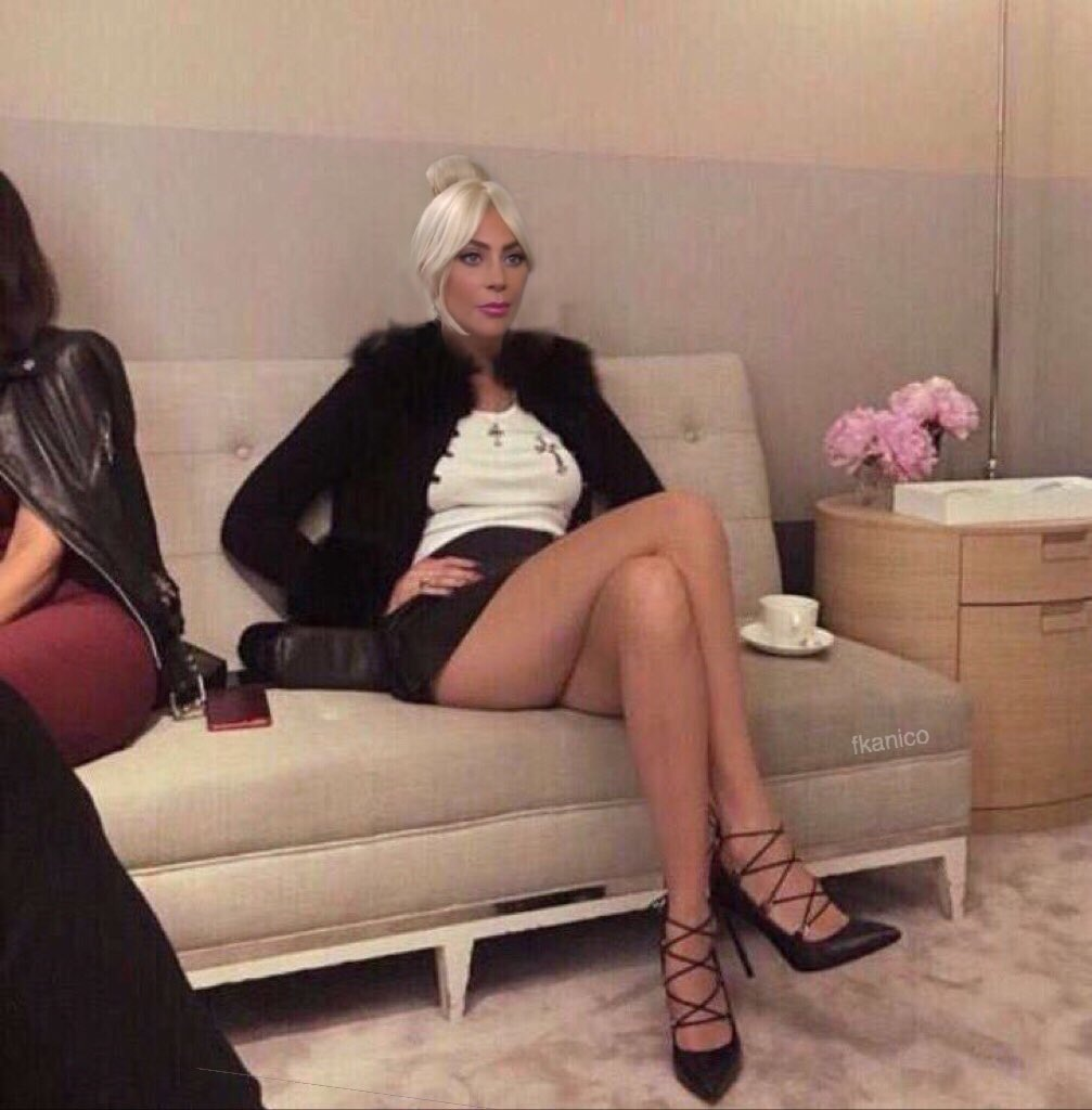 Gaga sitting in a room full of 100 people waiting for one to believe in her