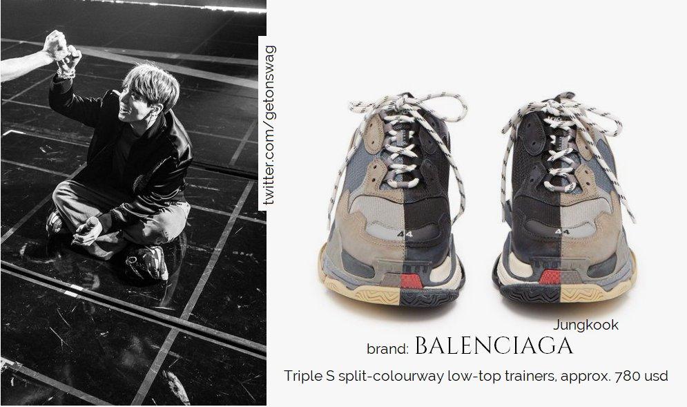 BALENCIAGA triple s split-colourway