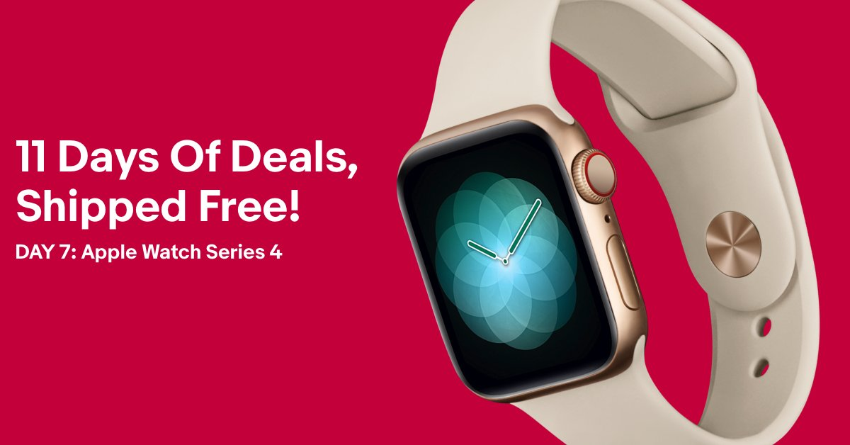 Ebay On Twitter No Time To Waste Today S 11daysofdeals Special Offer Get The Apple Watch Series 4 For 389 Https T Co Jjivr9lapt Https T Co 4ztvwroape