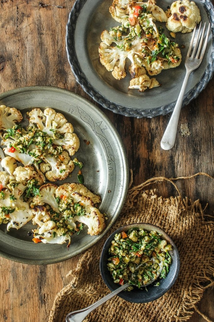 Cauliflower takes on other flavors well, so it can absolutely occupy center stage on your dinner plate! Roasted nuts, garlic, and chili flakes are a few key players in the flavor profile for this dish: http://bit.ly/2tBDjaT