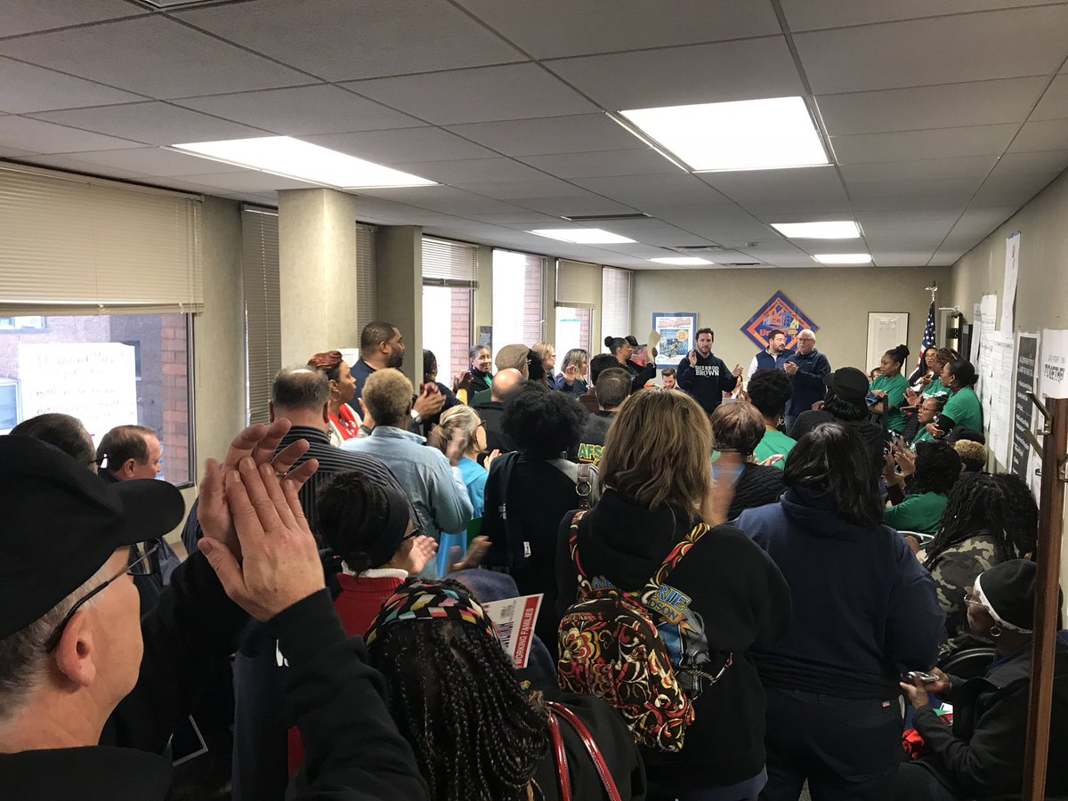 Thank you @AFSCME President Lee Saunders for kicking off our final #Labor2018 canvass today! We are fired up and ready to #TakeBackOhio