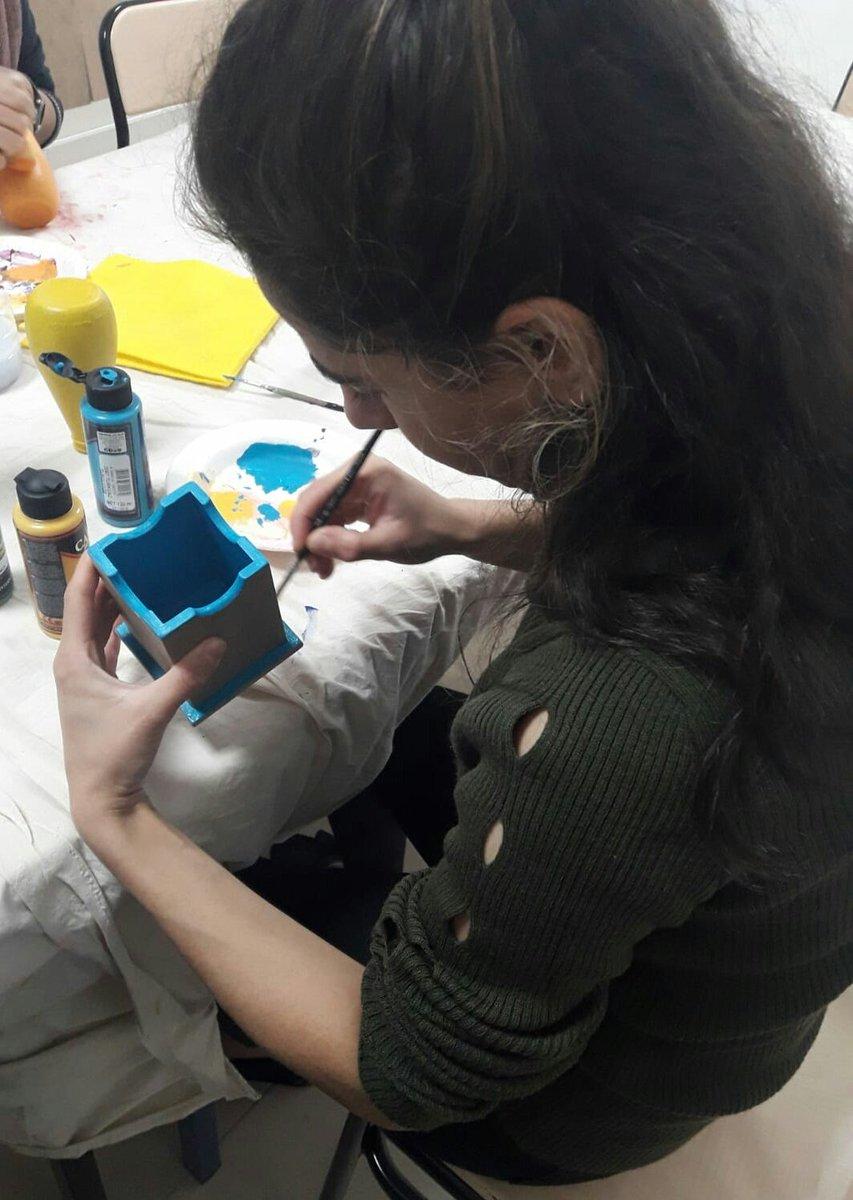 Pir Ali Bey Kız öğrenci Yurt Müdürlüğümüzde Ahşap Boyama Kursumuz