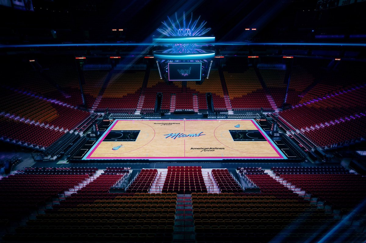 First look at the Miami Heat's new Vice court : nba