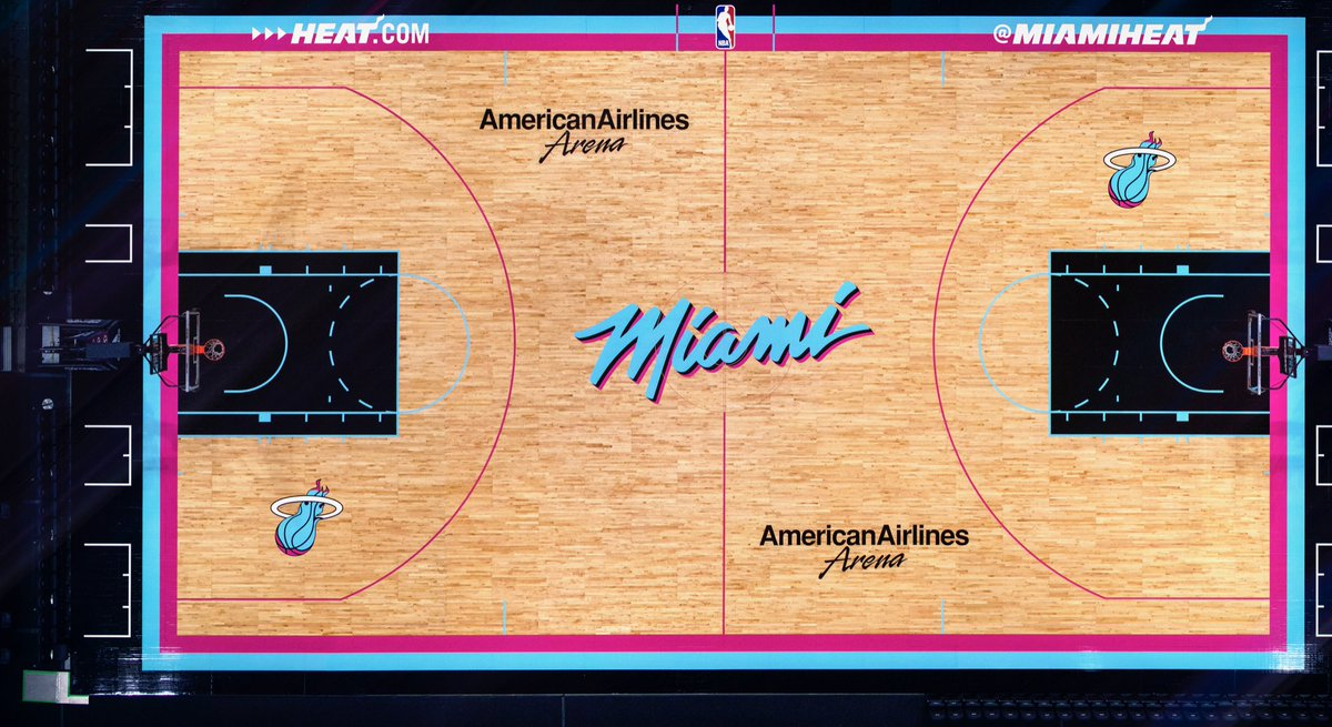First look at the Miami Heat s new Vice court   nba 81faab82d