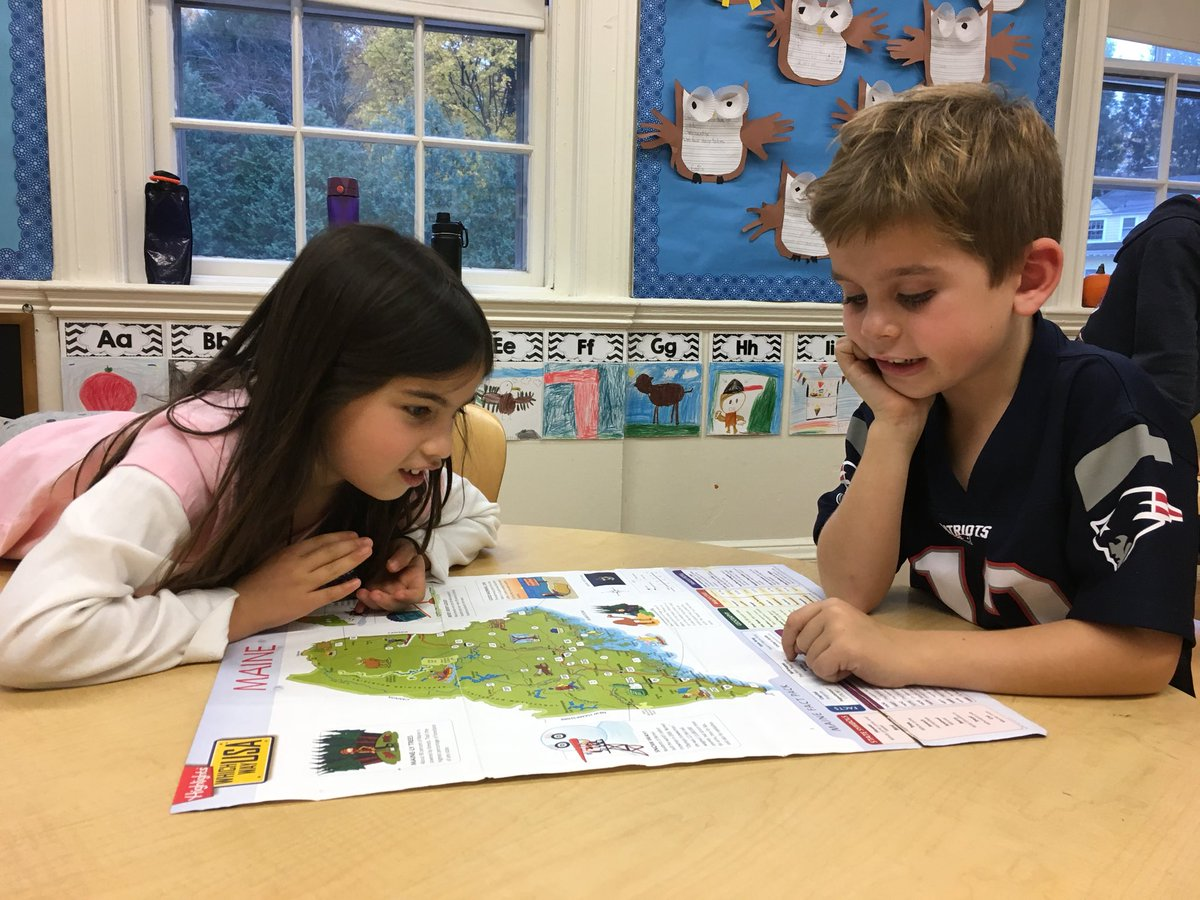 1st step of 1st grade state reports with Ms. Morin's class #MapSkills #Geography #SocialStudies #Teamwork #WeHaveFunLearningTogether @brimmerandmay @Nmorin80