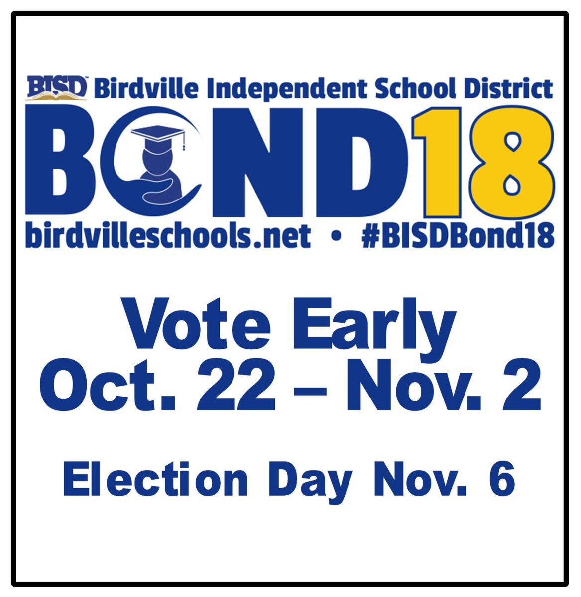 Birdville Isd On Twitter Bisd Bond Vote Nov 6 Bisdbond18 Https T Co Dvkbdwsfbd