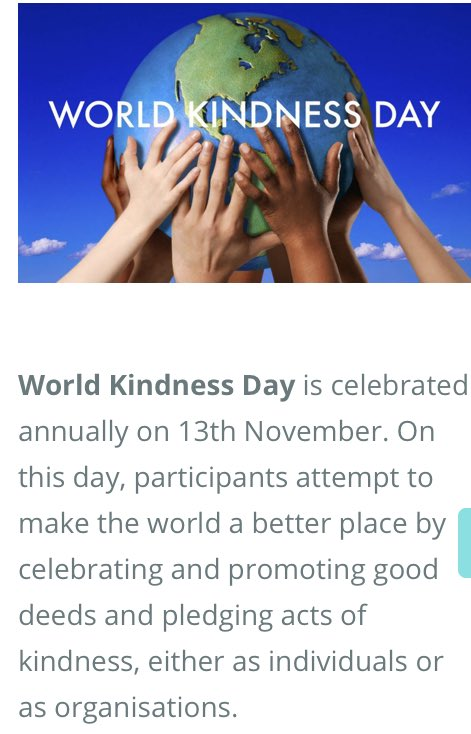 November 13th, 2018. Spread kindness. Wear the color blue.