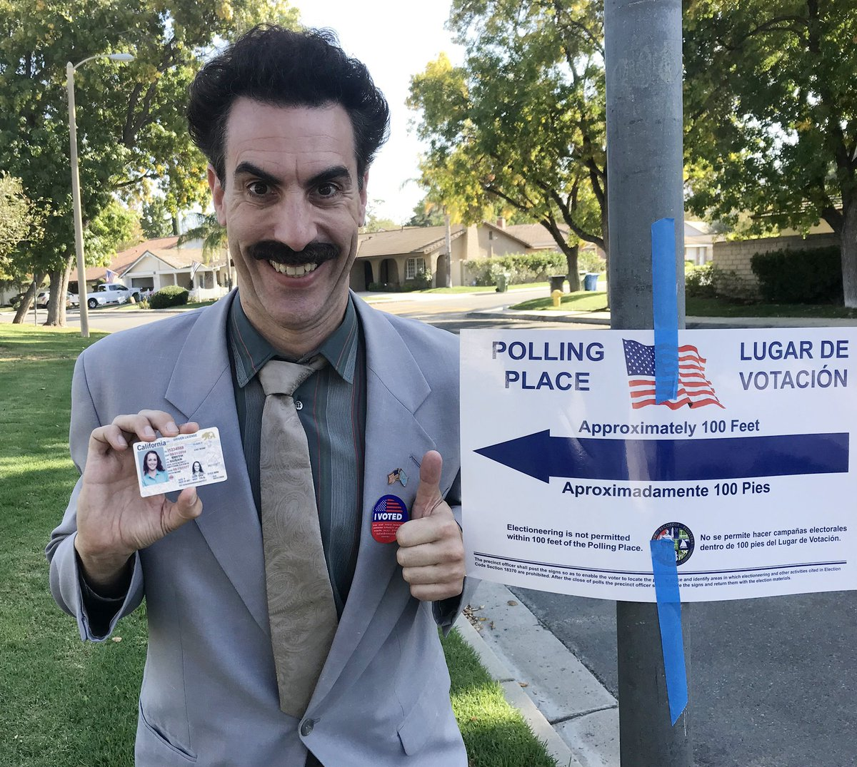 #Borat on #Kimmel TONIGHT! @SachaBaronCohen #ElectionNight #Midterm2018