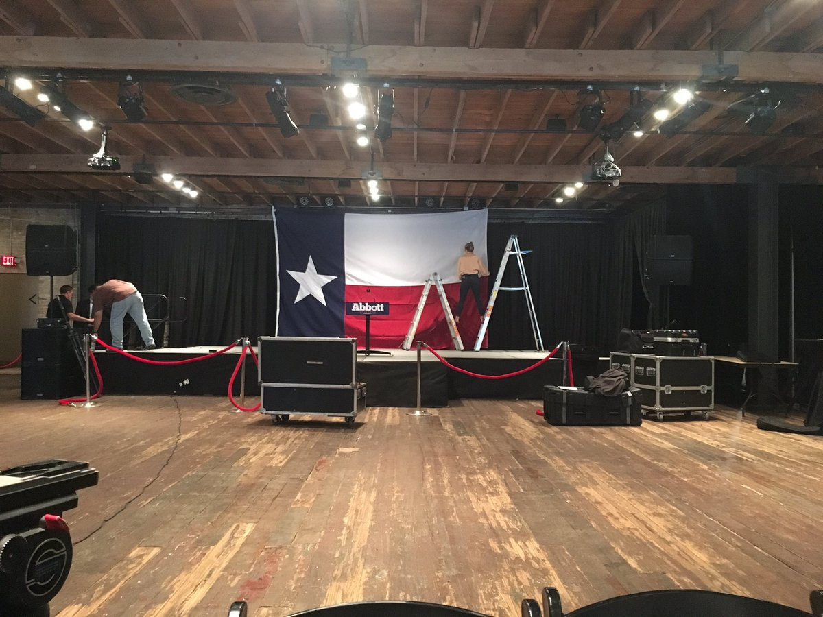 We are setting up for a Texas-Size victory party tonight at Brazos Hall in downtown Austin. Join us at 7:00 for a celebration. https://t.co/maqbt3TcG7