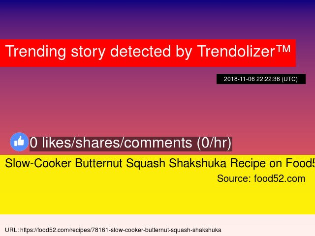 Slow-Cooker Butternut Squash Shakshuka Recipe on Food52 #MeredithCorporation https://t.co/K34DaIaqxU https://t.co/vgmsp3rHxI