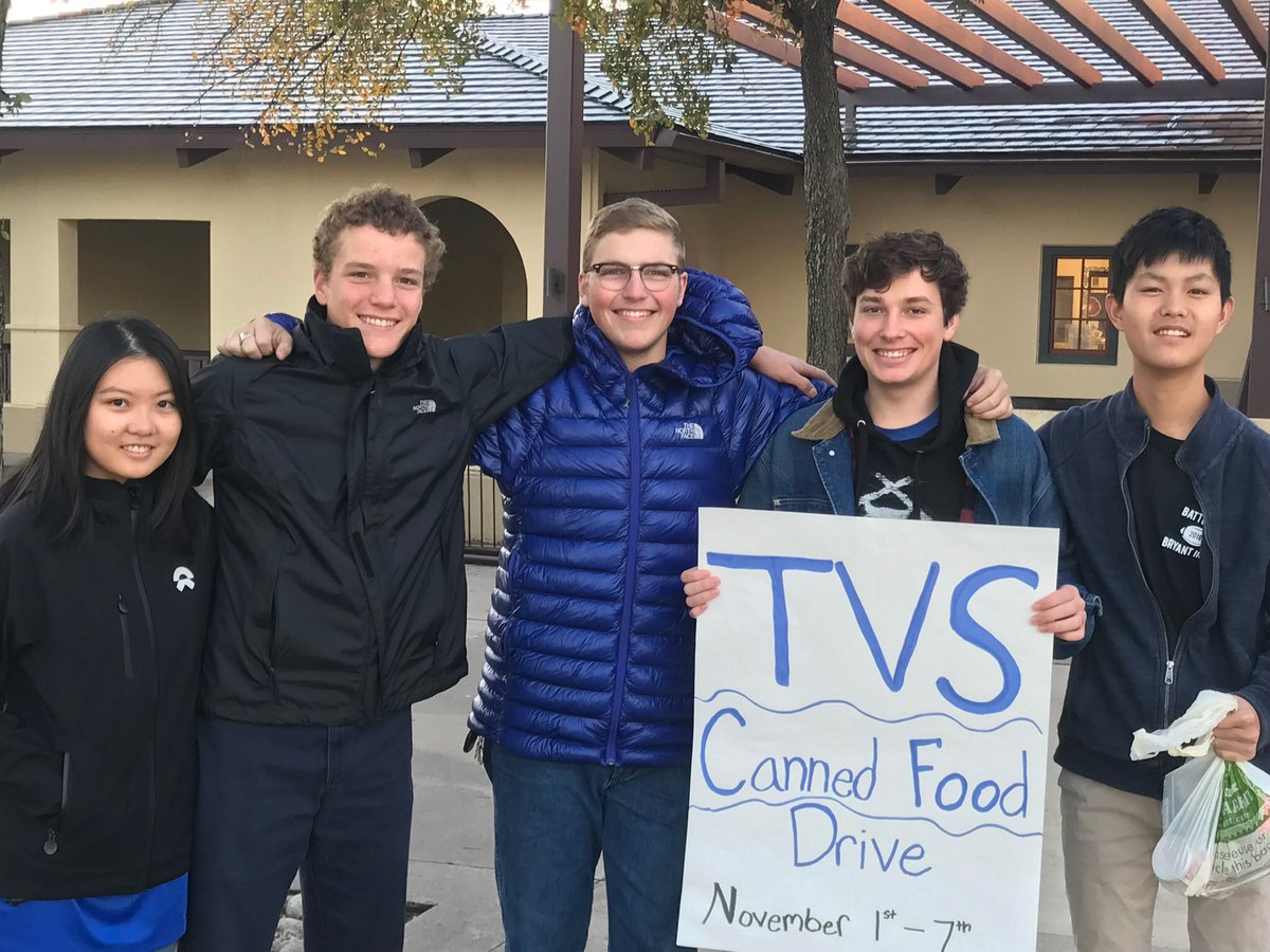 Ok, TVS families! Please step up and BRING YOUR CANS TOMORROW!!!!! We need everyone's help to get closer to our canned food drive goal - TOMORROW IS THE LAST DAY!!!!! Support TVS community service and @TAFoodBank