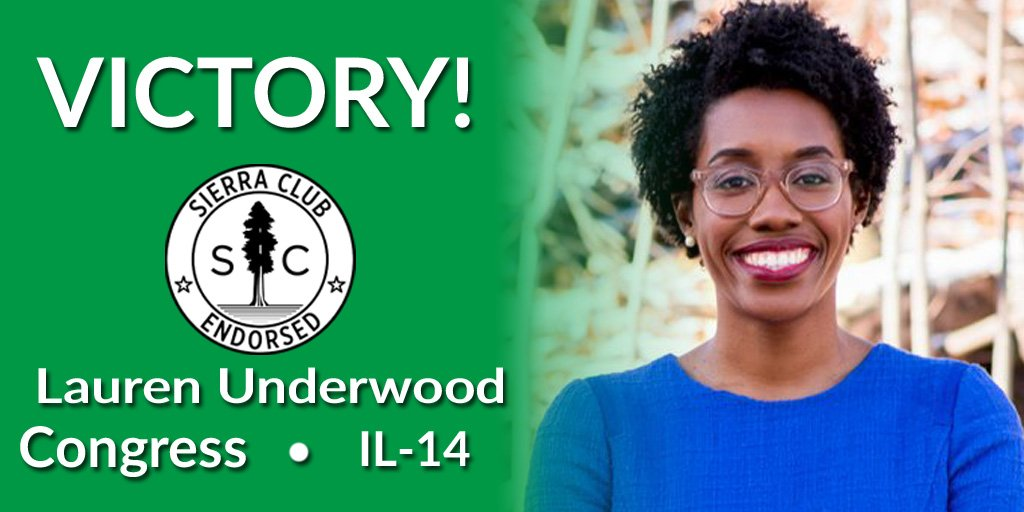 Congratulations to @LUnderwood630 for her victory for clean energy and climate action in #IL14!