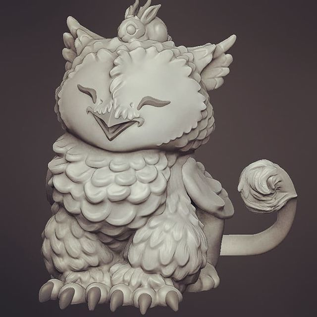 Another @artofbianca design I plan to have available at her booth at designercon :) #artofbiancaromanstumpff #designercon2018 #designercon #zbrush #arttoy https://ift.tt/2FbdoPF