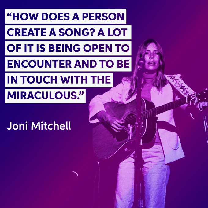 Happy Birthday to the great songwriter and painter, Joni Mitchell!