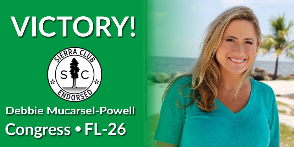 A huge win for real climate leadership in #FL26 - congrats to @DebbieforFL!