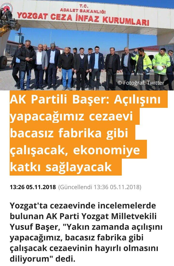 AK Partili Başer: Açılışını yapacağımız cezaevi bacasız fabrika gibi çalışacak, ekonomiye katkı sağlayacak 80