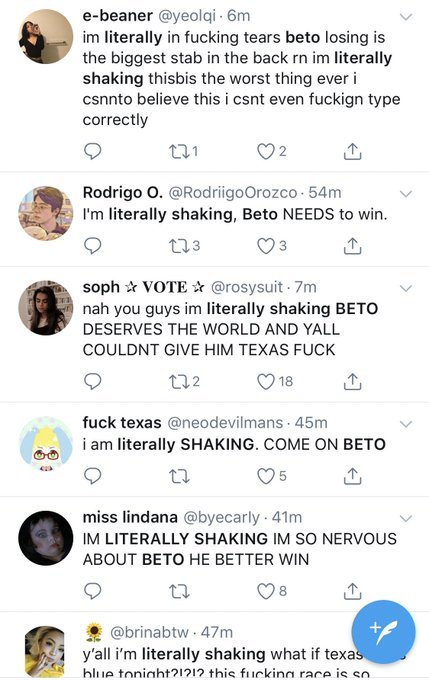 Literally shaking over Beto right now. So much so it's set off earthquake sensors. Photo