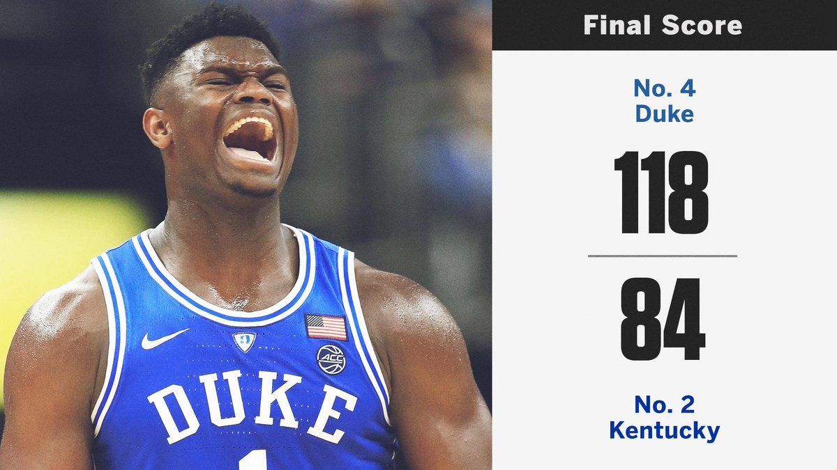 Replying to @espn: .@DukeMBB put all of college basketball on notice.