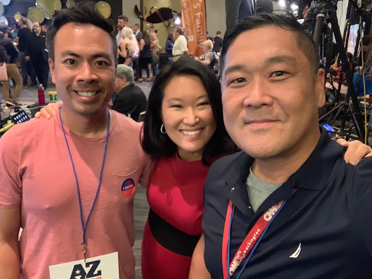 My fellow @CNN Asian American journalists covering #MidtermElections2018 for CNN on #AZSenate